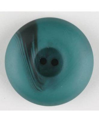 Polyesterknopf mit Wulstrand und dunklem Pinselstrich, rund, 2 loch - Größe: 18mm - Farbe: grün - Art.Nr. 314720