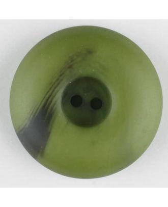 Polyesterknopf mit Wulstrand und dunklem Pinselstrich, rund, 2 loch - Größe: 30mm - Farbe: grün - Art.Nr. 384719