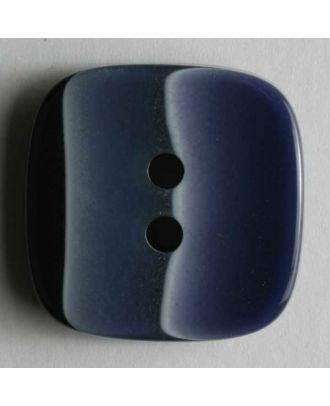Kunststoffknopf mehrfach unterbrochen - Größe: 18mm - Farbe: blau - Art.Nr. 250842