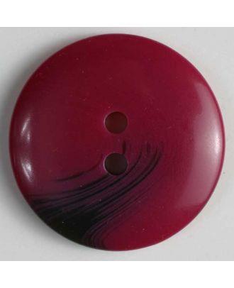 Kunststoffknopf mit dezentem Muster - Größe: 34mm - Farbe: rot - Art.Nr. 360098