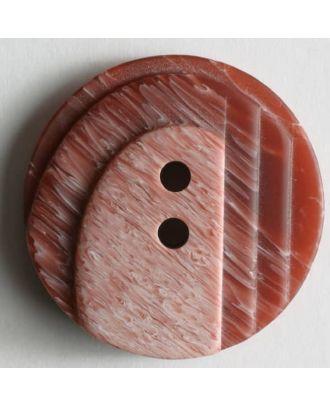 Kunststoffknopf mit stufenförmigen Erhöhungen - Größe: 25mm - Farbe: rot - Art.Nr. 310215
