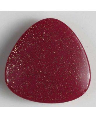 Kunststoffknopf dreieckig mit Glimmer - Größe: 17mm - Farbe: pink - Art.Nr. 241052