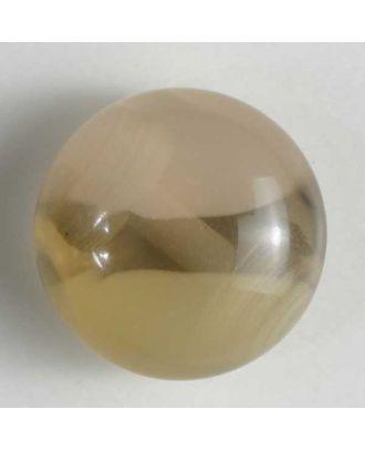 auffallender halbtransparenter Kugelknopf - Größe: 10mm - Farbe: beige - Art.Nr. 201212