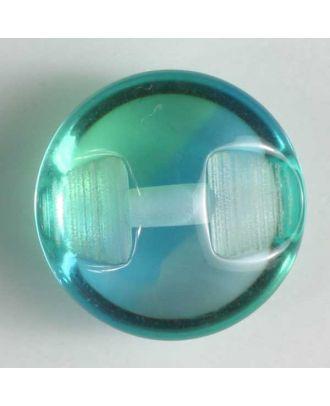 auffallender halbtransparenter Kugelknopf - Größe: 10mm - Farbe: blau - Art.Nr. 201213