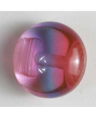 auffallender halbtransparenter Kugelknopf - Größe: 10mm - Farbe: pink - Art.Nr. 201215