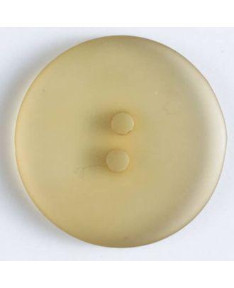 Polyesterknopf transparent - Größe: 19mm - Farbe: beige - Art.Nr. 281028