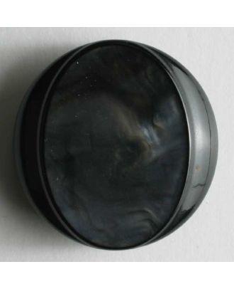 Kunststoffknopf wunderschön marmoriert - Größe: 18mm - Farbe: blau - Art.Nr. 250648