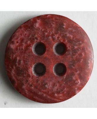 Kunststoffknopf mit unruhiger Oberfläche - Größe: 25mm - Farbe: rot - Art.Nr. 290131
