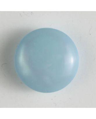 Kunststoffknopf rund, gewölbte Form mit Öse - Größe: 18mm - Farbe: blau - Art.Nr. 261171