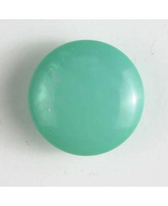 Kunststoffknopf rund, gewölbte Form mit Öse - Größe: 15mm - Farbe: grün - Art.Nr. 221819