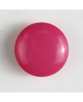 Kunststoffknopf rund, gewölbte Form mit Öse - Größe: 18mm - Farbe: pink - Art.Nr. 261173