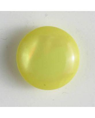 Kunststoffknopf rund, gewölbte Form mit Öse - Größe: 15mm - Farbe: gelb - Art.Nr. 221822