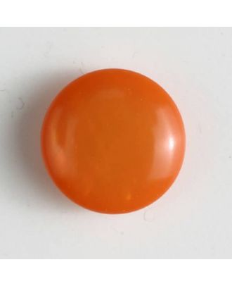 Kunststoffknopf rund, gewölbte Form mit Öse - Größe: 13mm - Farbe: orange - Art.Nr. 201444