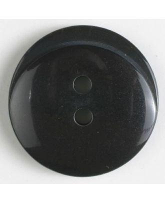 Polyesterknopf rund - Größe: 20mm - Farbe: grau - Art.Nr. 330864
