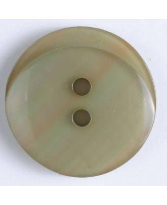 Polyesterknopf rund - Größe: 20mm - Farbe: beige - Art.Nr. 330866