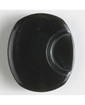 Polyesterknopf oval - Größe: 23mm - Farbe: grau - Art.Nr. 341066