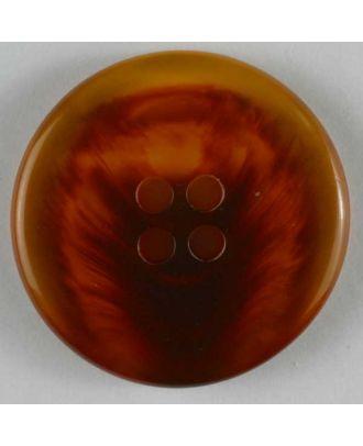 Kunststoffknopf mit geflammtem Motiv  - Größe: 19mm - Farbe: braun - Art.Nr. 221198