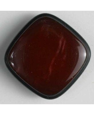 Kunststoffknopf quadratisch mit glänzender Oberfläche - Größe: 19mm - Farbe: rot - Art.Nr. 300229
