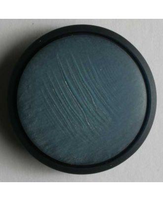 schöner Kunststoffknopf mit schmalem Rand - Größe: 20mm - Farbe: blau - Art.Nr. 310372