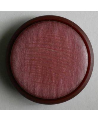 schöner Kunststoffknopf mit schmalem Rand - Größe: 25mm - Farbe: rot - Art.Nr. 330304