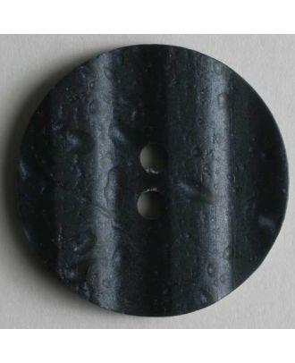 Kunststoffknopf mit interessantem Muster - Größe: 15mm - Farbe: blau - Art.Nr. 231315
