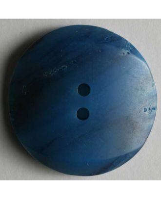 Kunststoffknopf Mondlandschaft -  Größe: 28mm - Farbe: blau - Art.Nr. 370164