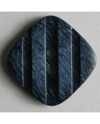 Kunststoffknopf mit streifenförmigen Einkerbungen -  Größe: 18mm - Farbe: blau - Art.Nr. 251145