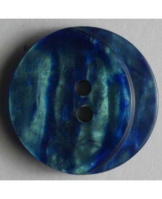 Kunststoffknopf mit schöner Marmorzeichnung - Größe: 18mm - Farbe: blau - Art.Nr. 251151