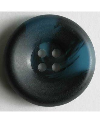 Kunststoffknopf mit wunderschöner Marmorierung - Größe: 18mm - Farbe: blau - Art.Nr. 251182