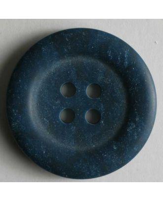 Kunststoffknopf gesprenkelt mit breitem Rand - Größe: 20mm - Farbe: blau - Art.Nr. 270423