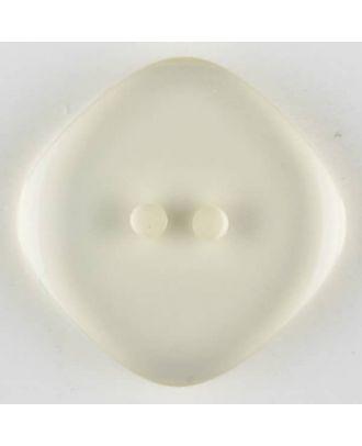 Polyesterknopf quadratisch mit abgerundeten Ecken, 2 Loch - Größe: 23mm - Farbe: transparent - Art.Nr. 341111