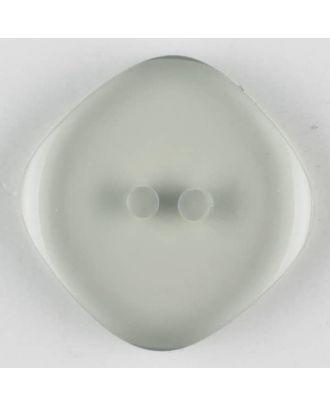 Polyesterknopf quadratisch mit abgerundeten Ecken, 2 Loch - Größe: 23mm - Farbe: grau - Art.Nr. 343700