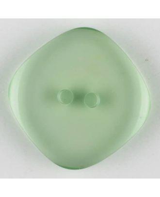 Polyesterknopf quadratisch mit abgerundeten Ecken, 2 Loch - Größe: 15mm - Farbe: grün - Art.Nr. 273705