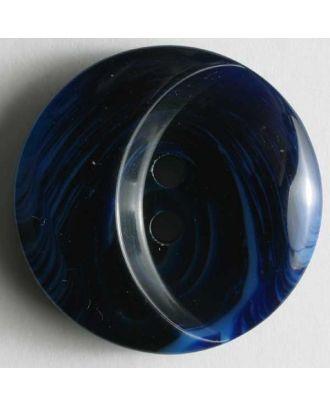 Kunststoffknopf mit ovaler Ausbuchtung - Größe: 18mm - Farbe: blau - Art.Nr. 251224