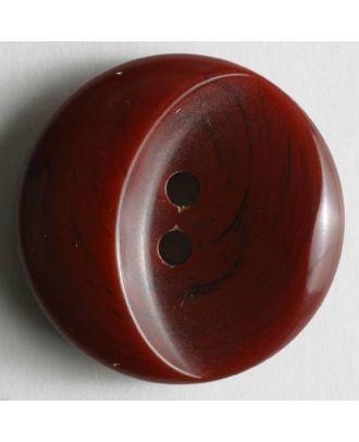 Kunststoffknopf mit ovaler Ausbuchtung - Größe: 23mm - Farbe: rot - Art.Nr. 300555