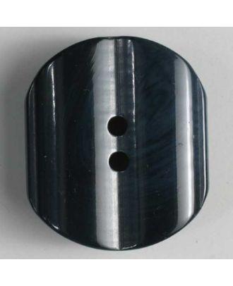 Kunststoffknopf mit unregelmäßigen weißen Streifen - Größe: 20mm - Farbe: blau - Art.Nr. 270453