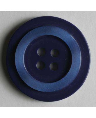 Kunststoffknopf mit schimmerndem Rand - Größe: 20mm - Farbe: blau - Art.Nr. 270468