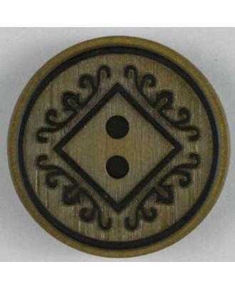 Kunststoffknopf mit schönem Design - Größe: 23mm - Farbe: beige - Art.Nr. 300595