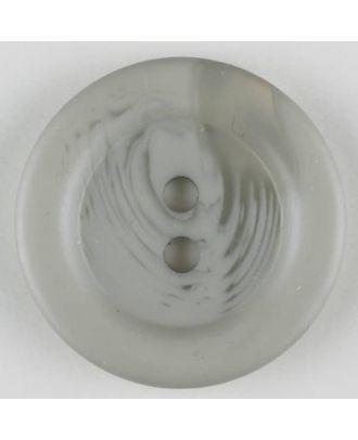 Polyesterknopf marmoriert mit breitem Wulstrand, 2 loch -  Größe: 28mm - Farbe: grau - Art.Nr. 383700