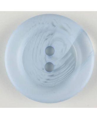 Polyesterknopf marmoriert mit breitem Wulstrand, 2 loch -  Größe: 28mm - Farbe: blau - Art.Nr. 383702