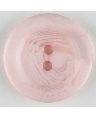 Polyesterknopf marmoriert mit breitem Wulstrand, 2 loch - Größe: 28mm - Farbe: pink - Art.Nr. 383708