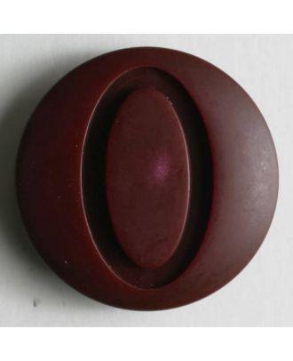 Kunststoffknopf mit ovaler Ausfräsung - Größe: 28mm - Farbe: rot - Art.Nr. 330453
