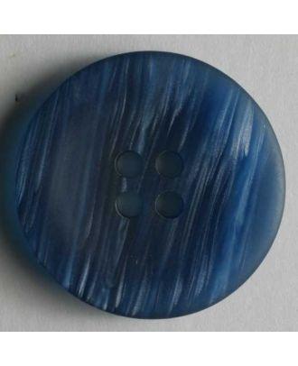 Kunststoffknopf mit schöner Struktur, 4 Loch -Größe: 18mm - Farbe: blau - Art.Nr. 251290