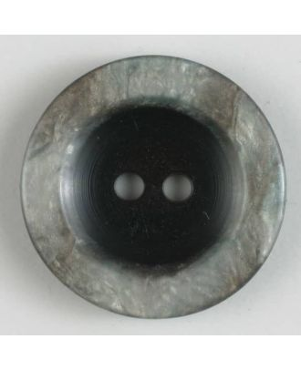 Polyesterknopf 2-loch, unbeschreiblich außergewöhnlich - Größe: 23mm - Farbe: grau - Art.Nr. 300694