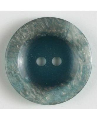 Polyesterknopf 2-loch, unbeschreiblich außergewöhnlich - Größe: 15mm - Farbe: grün - Art.Nr. 231456