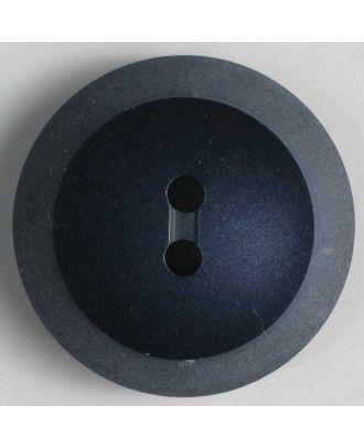 Kunststoffknopf mit hellem Rand - Größe: 18mm - Farbe: blau - Art.Nr. 251347