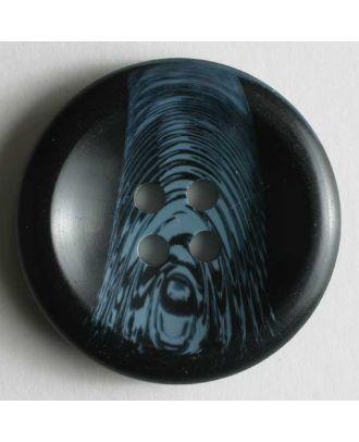 Kunststoffknopf mit schönem Farbverlauf - Größe: 20mm - Farbe: blau - Art.Nr. 231475