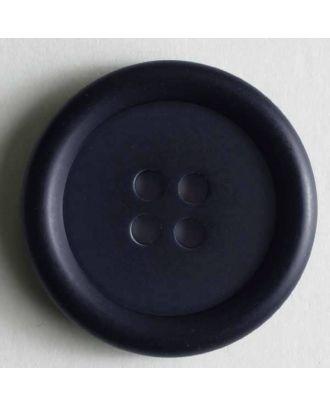 Kunststoffknopf schlicht, 4 Loch -  Größe: 20mm - Farbe: blau - Art.Nr. 231565