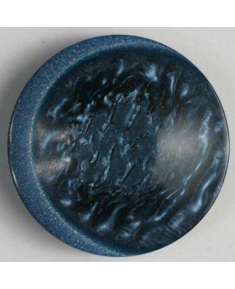 Kunststoffknopf mit einzigartiger Oberfläche  - Größe: 18mm - Farbe: blau - Art.Nr. 251482