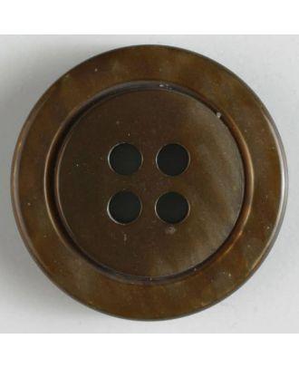Modeknopf - Größe: 25mm - Farbe: braun - Art.-Nr.: 320540